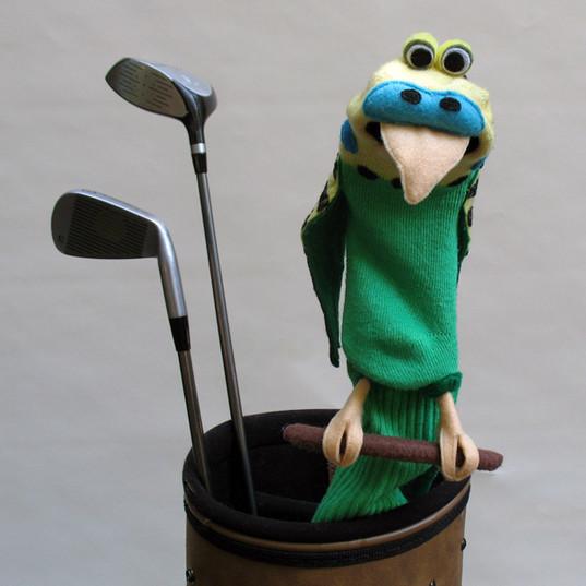 """Ricky"" Parakeet Golfclub Cover"
