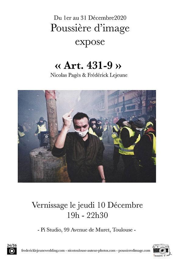 Affiche expo Art. 431-9