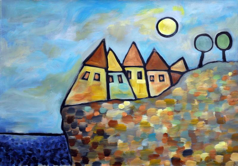 Dorf am Meer