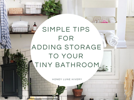 Simple Tips for Adding Storage to your Tiny Bathroom
