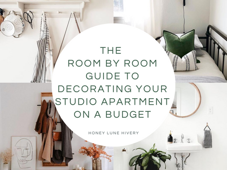 The Room by Room Guide to Decorating your Studio Apartment on a Budget