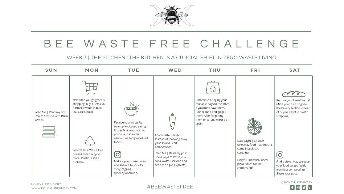 Honey Lune Hivery Week 3 Bee Waste Free Challenge