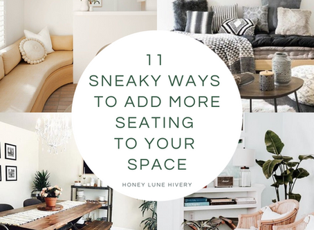 11 Sneaky Ways to Add More Seating to your Space