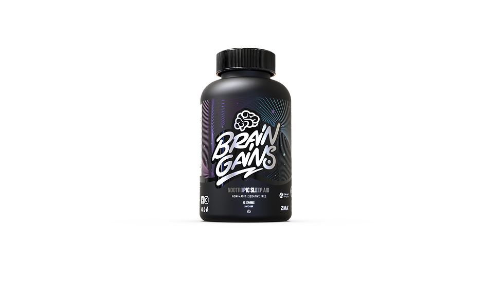 BRAINGAINS SWITCH-OFF NOOTROPIC SLEEP AID - BLACK EDITION