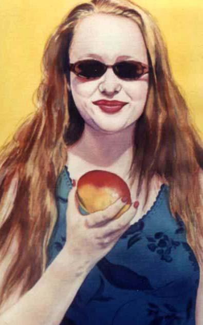 Girl with Mango