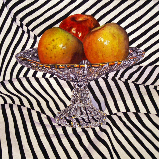 Apples in a Crystal Vase