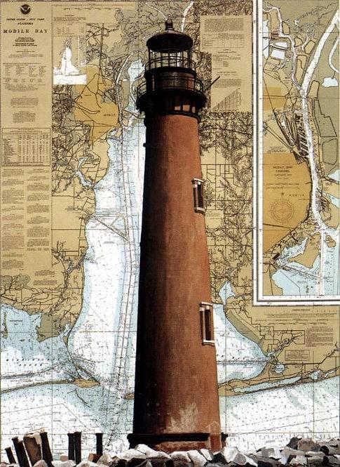 Sand Island Lighthouse Lithograph