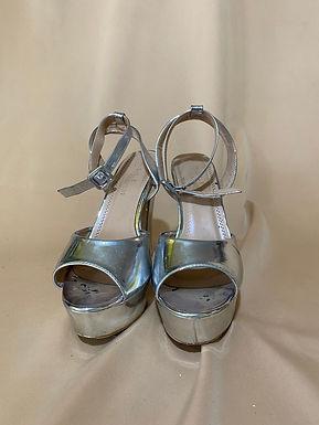 10 SILVER HIGH HEEL sandal