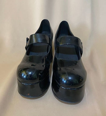 6 Black Vinyl high heels