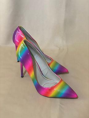 3 Rainbow high heels