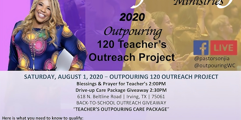 Outpouring Teacher's 120 Outreach Project