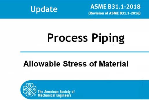 Ứng Suất Cho Phép Của Vật Liệu Theo Tiêu Chuẩn ASME B31.3