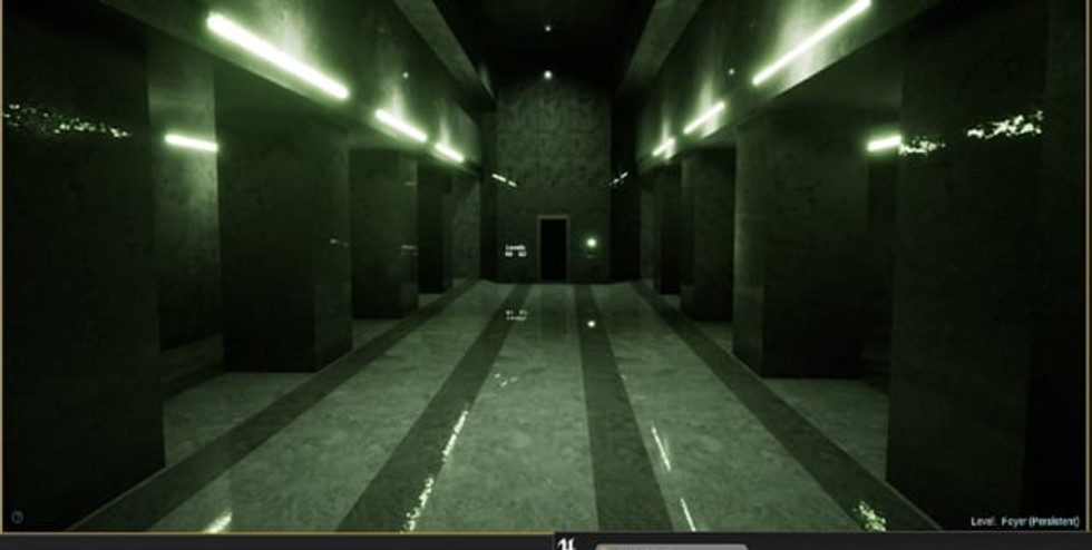 This solo project was building a 3D virtual environment of the lobby scene from the Matrix using Unreal's BSP brush and starter content. The purpose of this project was to improve my skills at building 3D environments, while working on the confines of the UE4 game engine. The Matrix personally had a major impact on my formative growth, and the lobby scene is unarguably the best from the entire trilogy.