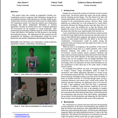 Augmented Virtuality in Real Time for Pre-visualization in Film (AViRT)