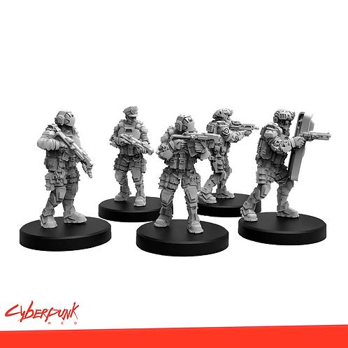 Cyberpunk RED Miniatures - Law Enforcers Set