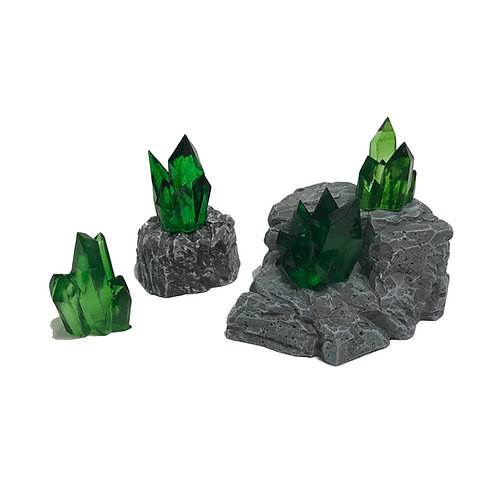 Crystal Nodes - Emerald Green