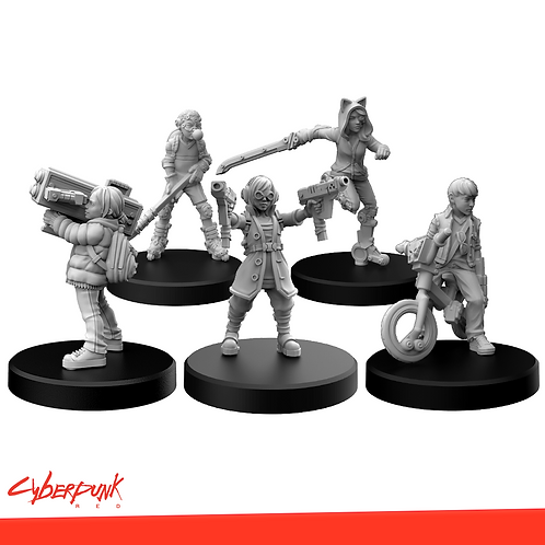 Cyberpunk RED Miniatures - Generation RED Set