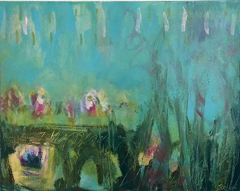 """A Little Spring Fling"" 16x20 acrylic"