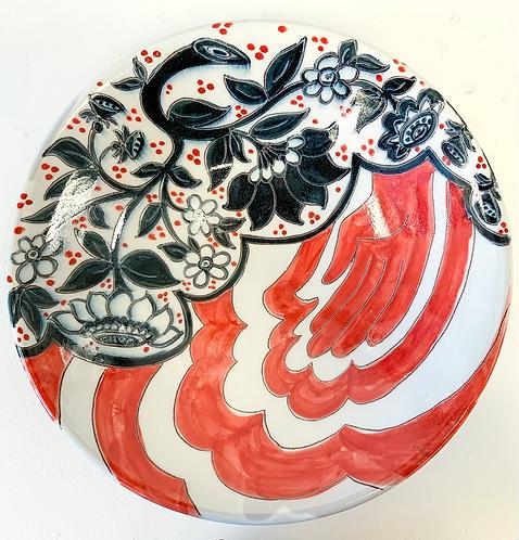 Red Handed Serving Bowl