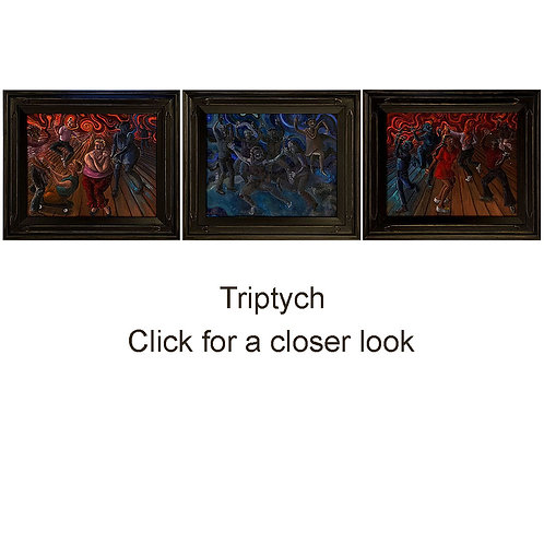 TRIPTYCH, Oil Paintings, framed, by Donna Coleman
