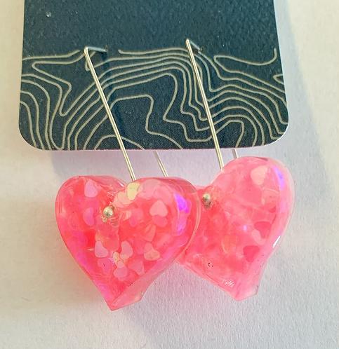 Bubblegum Heart earrings