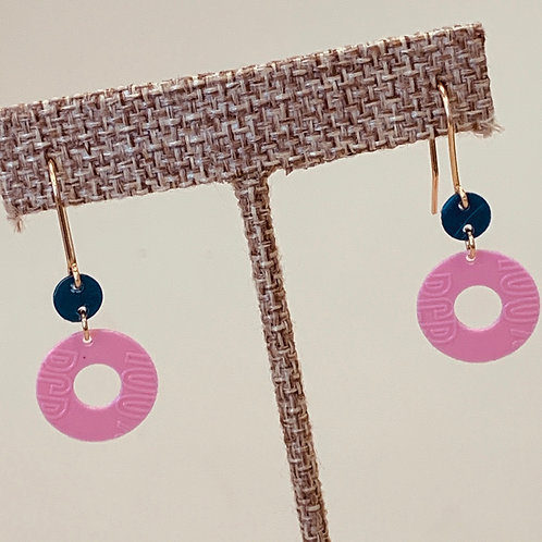 Pink Navy earrings