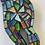 Thumbnail: Rainbow, glass mosaic woman