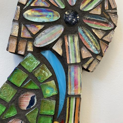La Belle Fleur mosaic woman