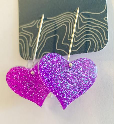 Fairy Dust Heart earrings
