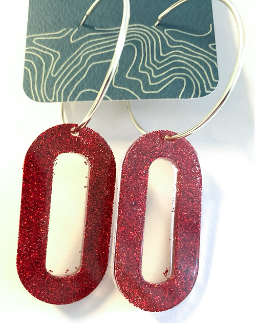 Ruby Slipper hoop earrings