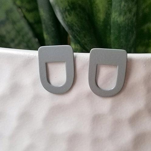 Gold or Grey Stud earrings