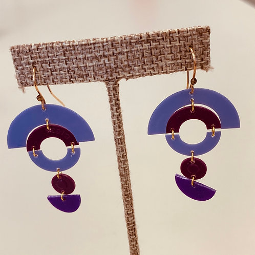 Purple/Maroon Drop earrings