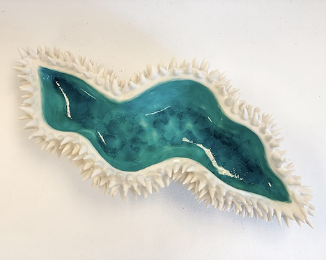 Luscious watery porcelain vessel