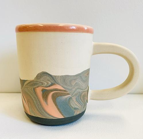 Tall Marbled Mug