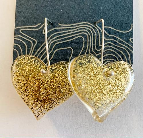 Bubbly Heart earrings