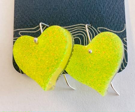 Lightning Bug Heart earrings