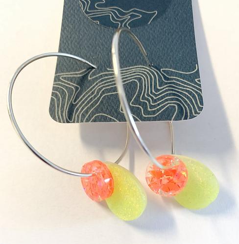 Gumdrop Hoop earrings