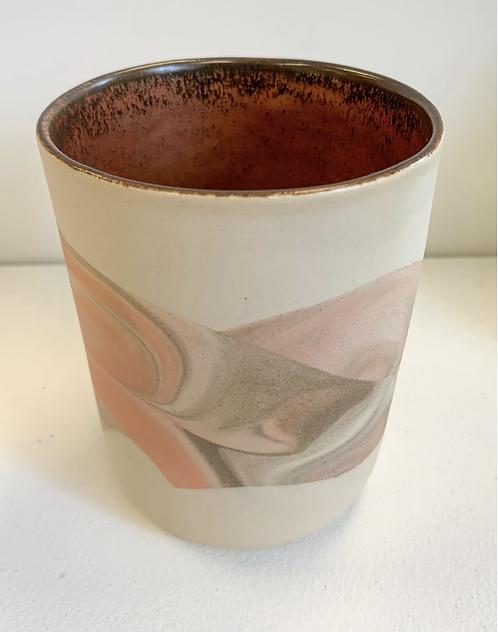 Marbled ceramic tumbler