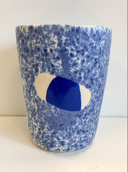 Blue Speckled Maja Cup