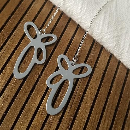 Grey Threader earrings