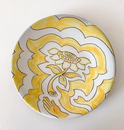 Yellow Flower Plate