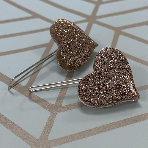 Stay Gold Heart earrings