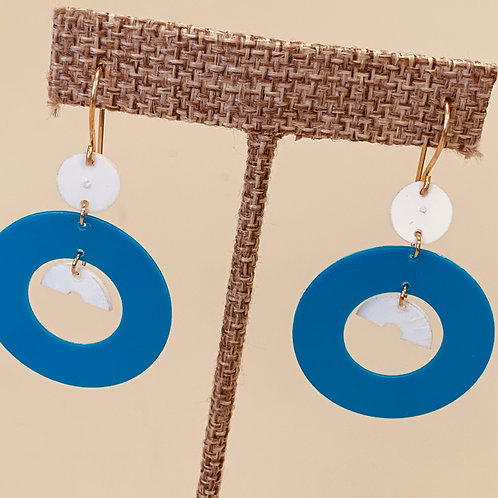 Blue/White earrings