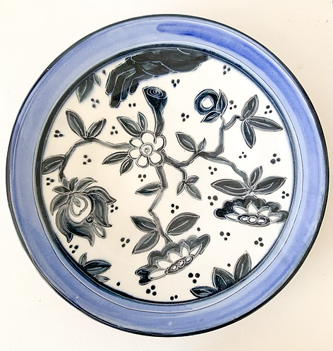 Platter with Black Tree of Life