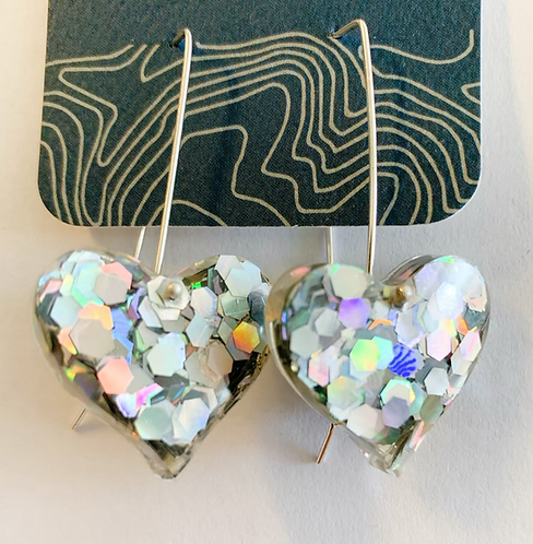Hologram Hearts earrings