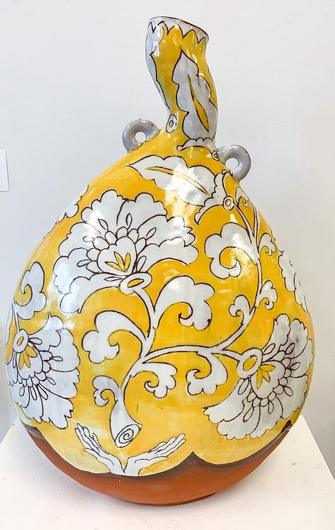 Lg Yellow Pilgrim Bottle