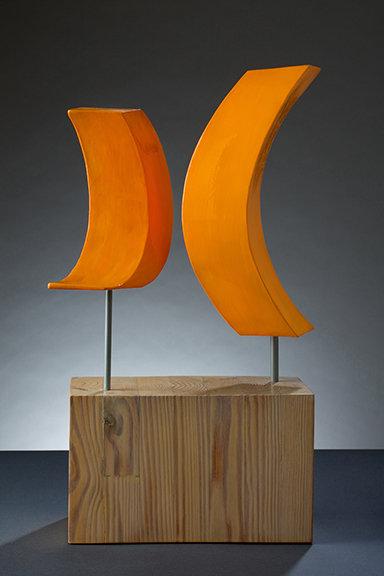 """""""Dialogue Deliberate"""" steel sculpture"""