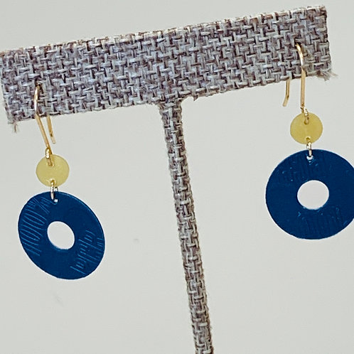 Navy Yellow earrings