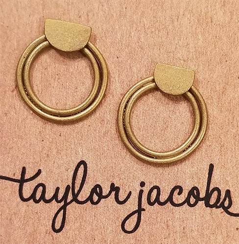 Concentric Circles Stud earrings