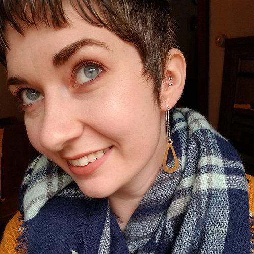 "Gold Threader earrings ""Holly"""